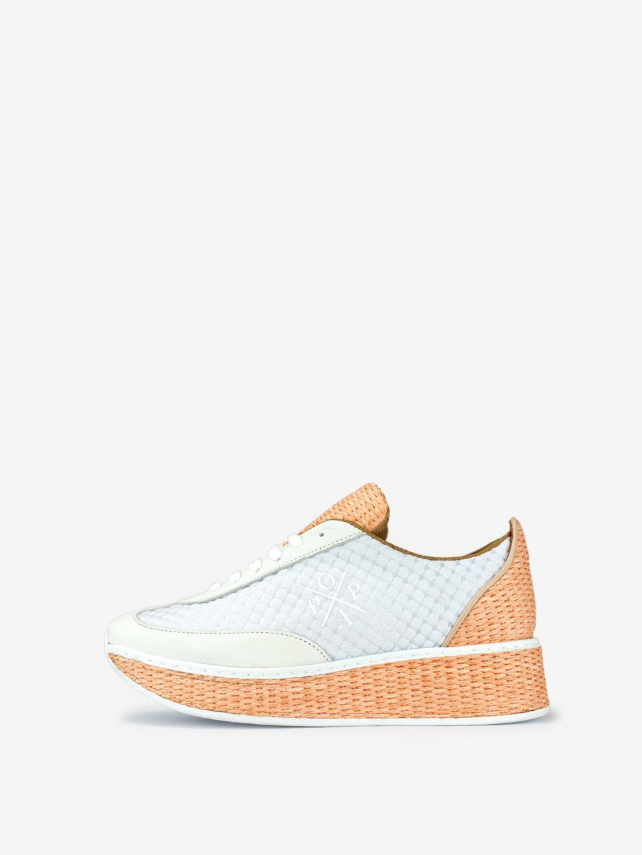 Zapatilla Sneaker Salmón Antofalla Rafia de Popa