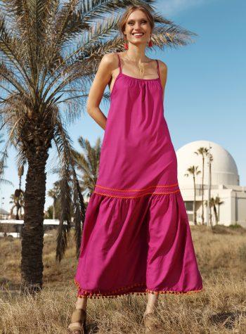 Vestido Largo Parfois Rosa de Love Piropo