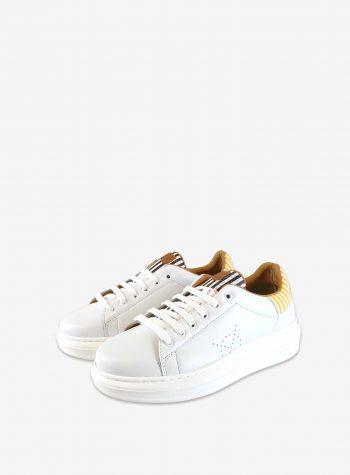 Sneaker Valnera Multi Rayas Blanca de Popa