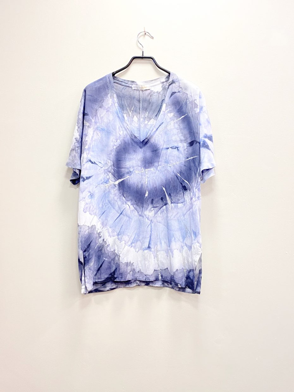 Blusa Tie Dye Manga Corta Azul de Monica Lendinez