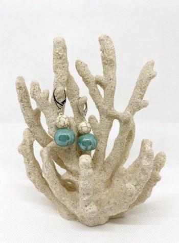 Pendientes Ceramica Turquesa modelo Botero de Calma