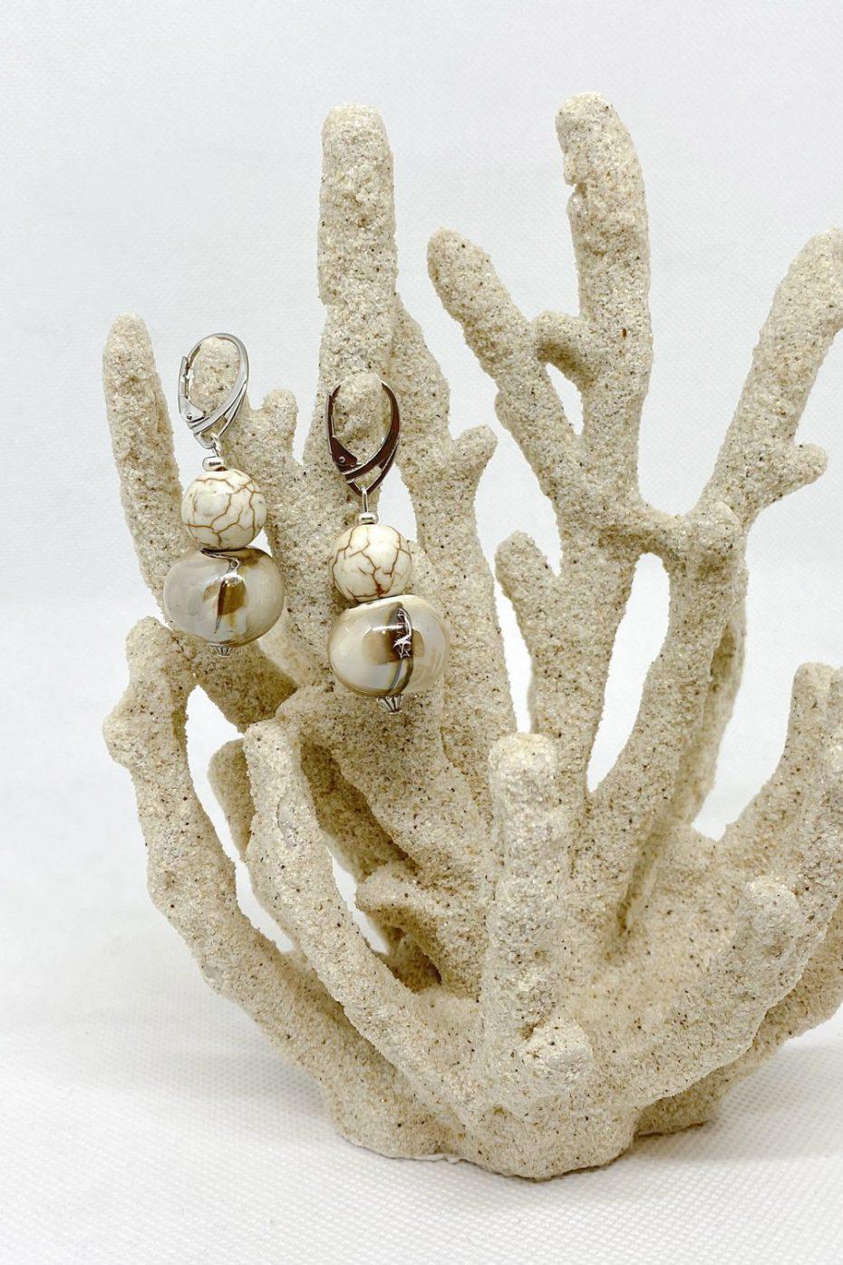 Pendientes Cerámica Crema modelo Botero de Calma