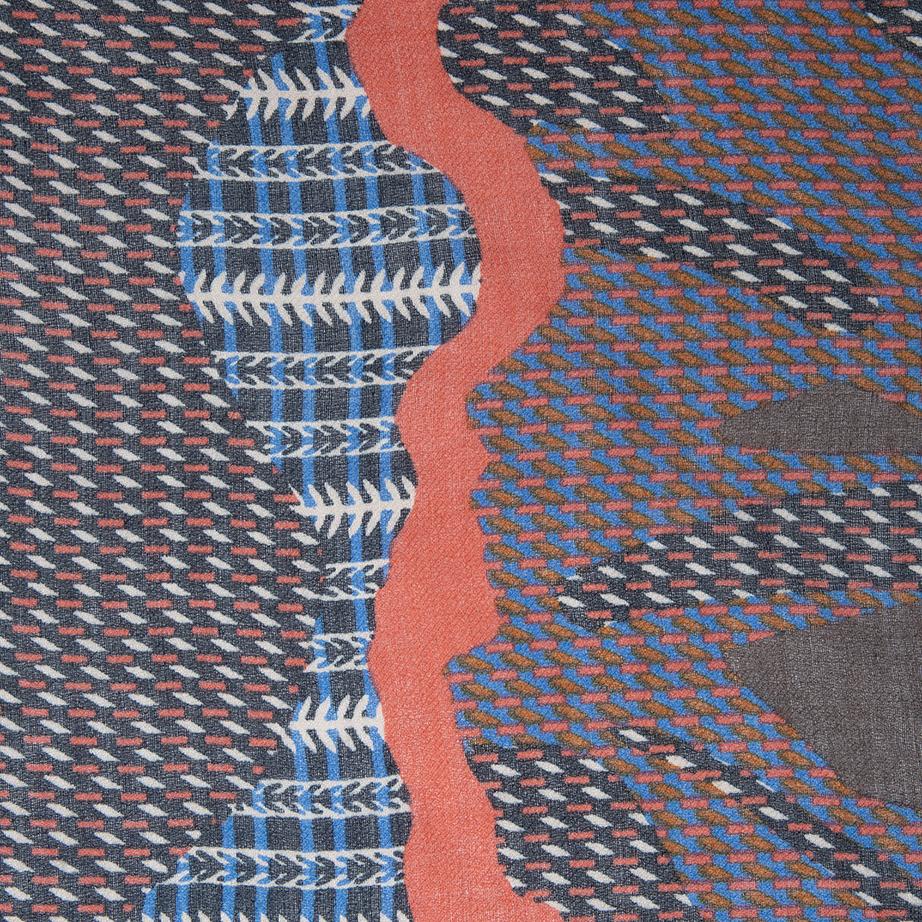 Fular Estampado con Lenguas de Color de Alibey