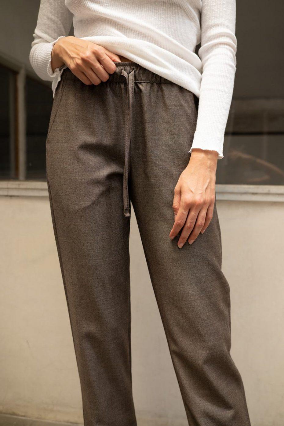 Pantalones Classy Estampados Gris de Poems
