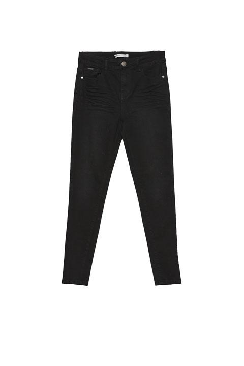Pantalon cinco bolsillos liso negro de VanDos