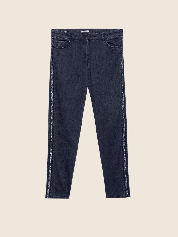 Pantalon Tejano Elastico Pedreria de Elena Miro