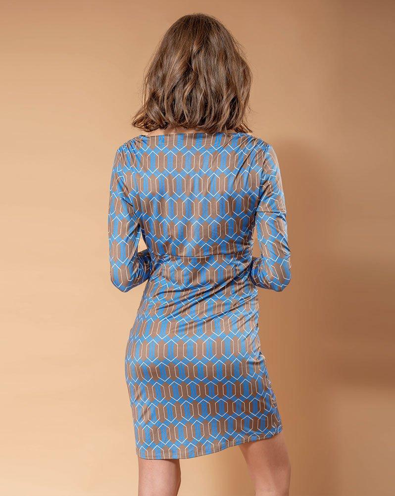 Vestido Drapeado Nastia Lea Azul de Ehlea