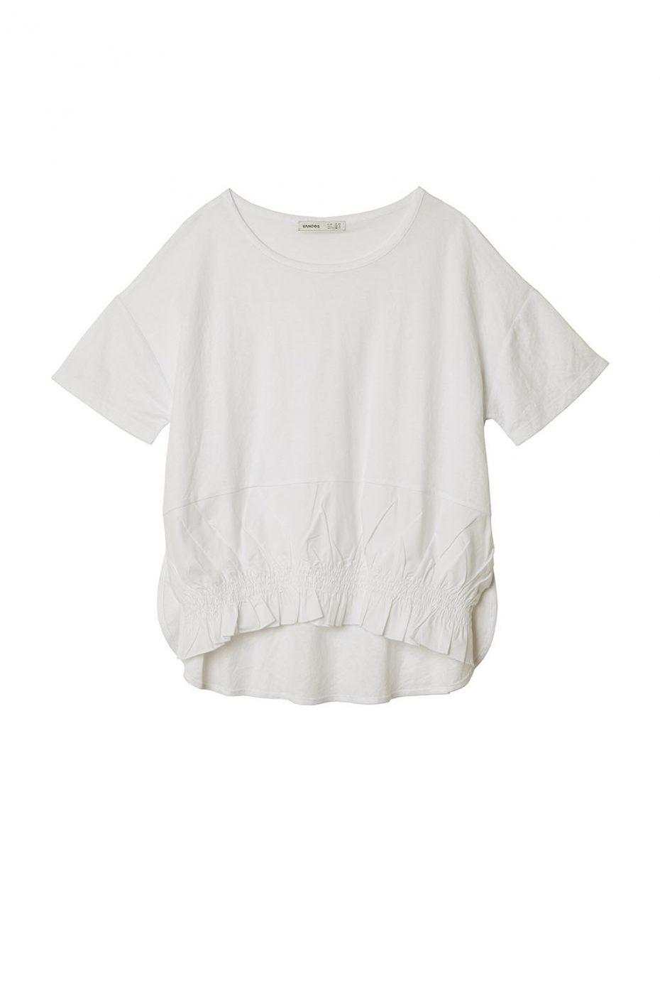 Camiseta Punto Manga Corta y Volante de Vandos