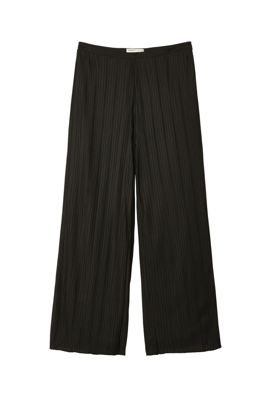 Pantalon Ancho Plisado Negro de Vandos