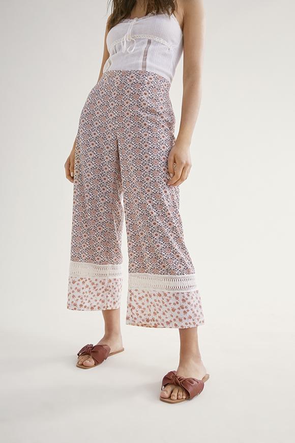 Pantalon Print Floral y Crochet Caniche de Nüd