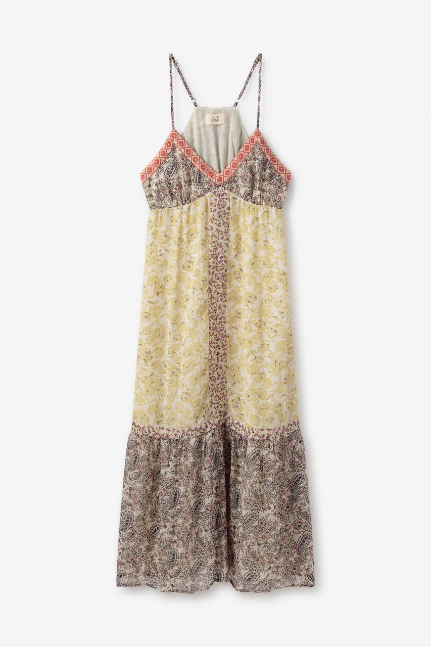 Vestido Largo Combinacion de Prints Serang de Nüd
