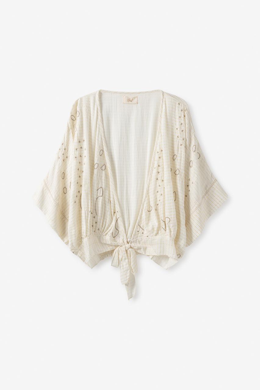 Kimono Corto con Detalles y Lazo Marta de Nüd