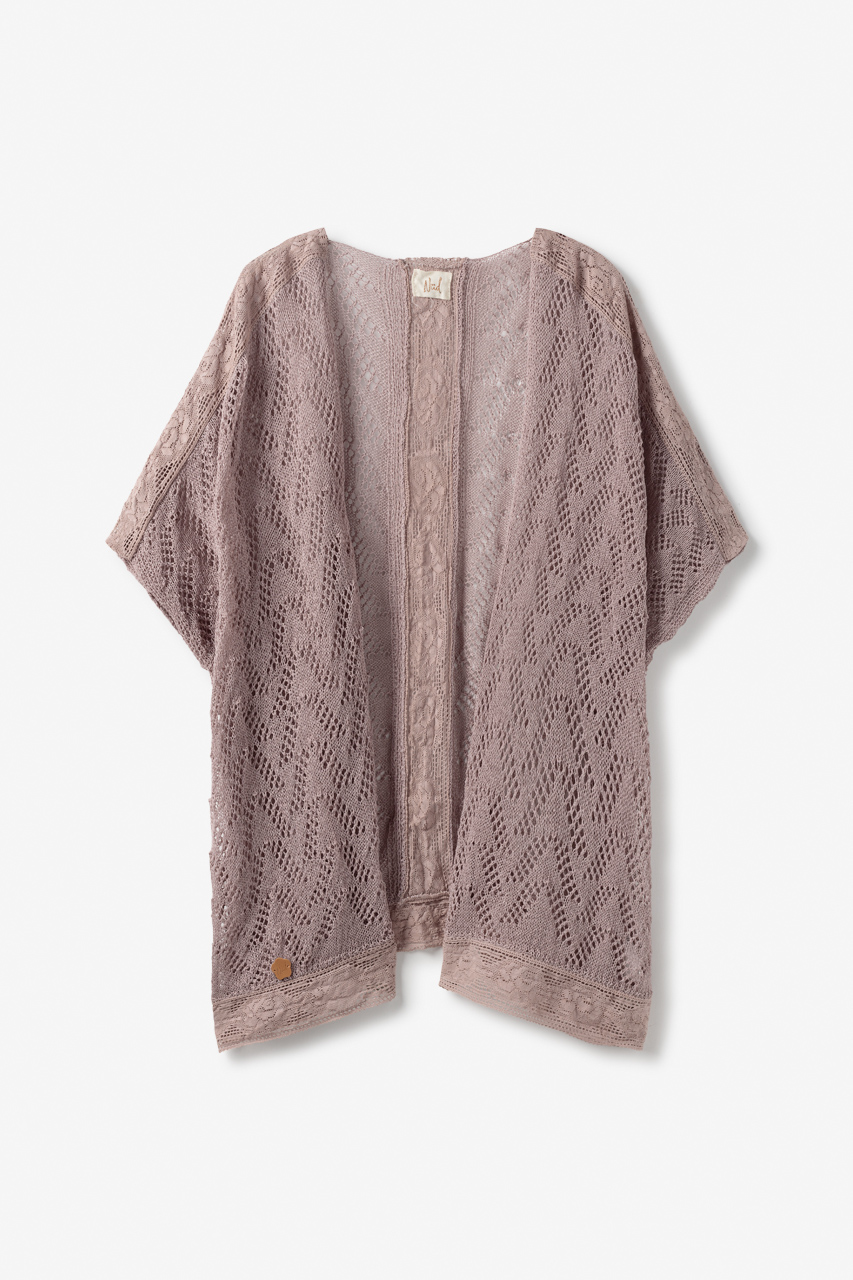 Kimono de Punto con Puntilla y Guipur Teser de Nüd