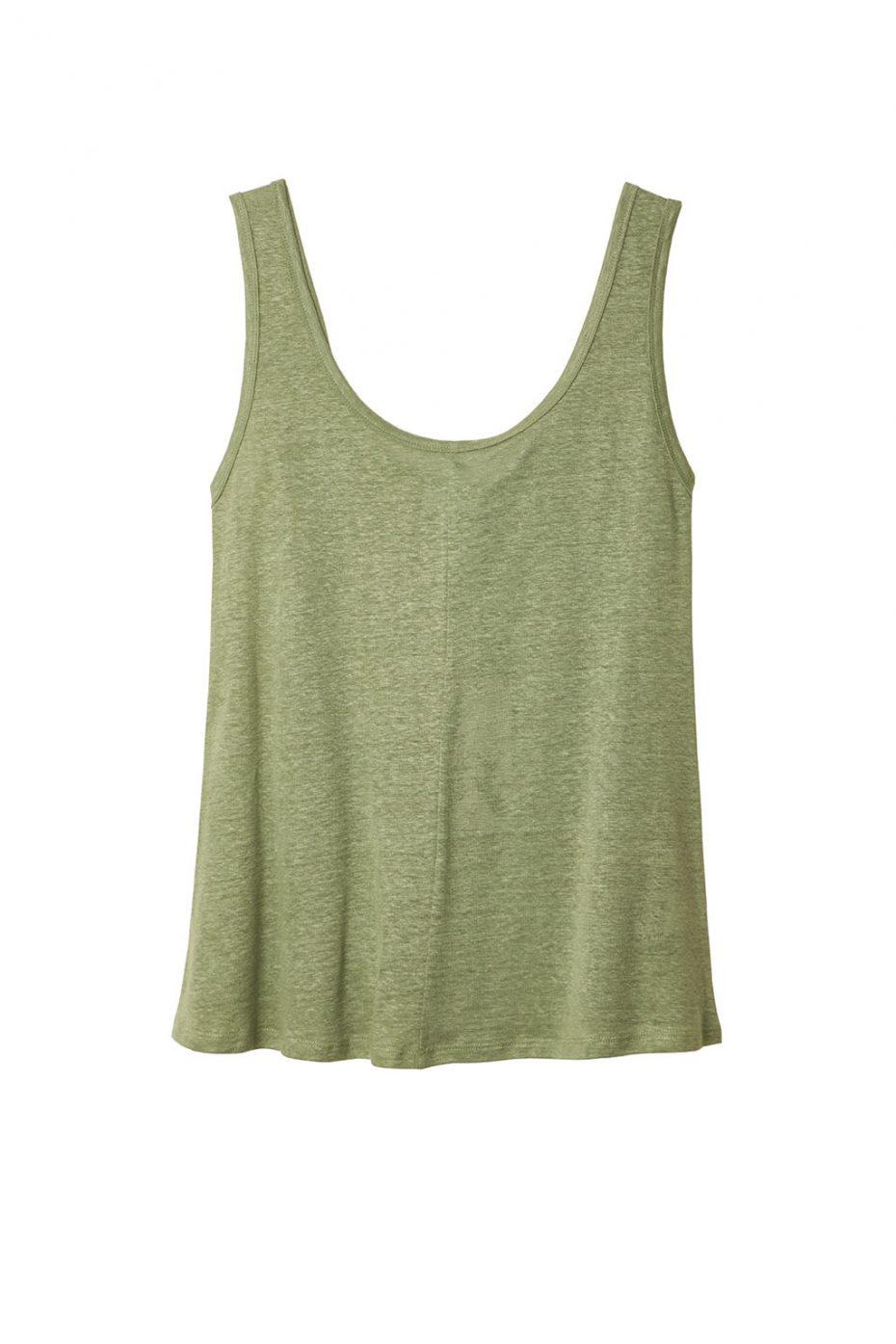 Camiseta Tirantes Lino Menta de Vandos