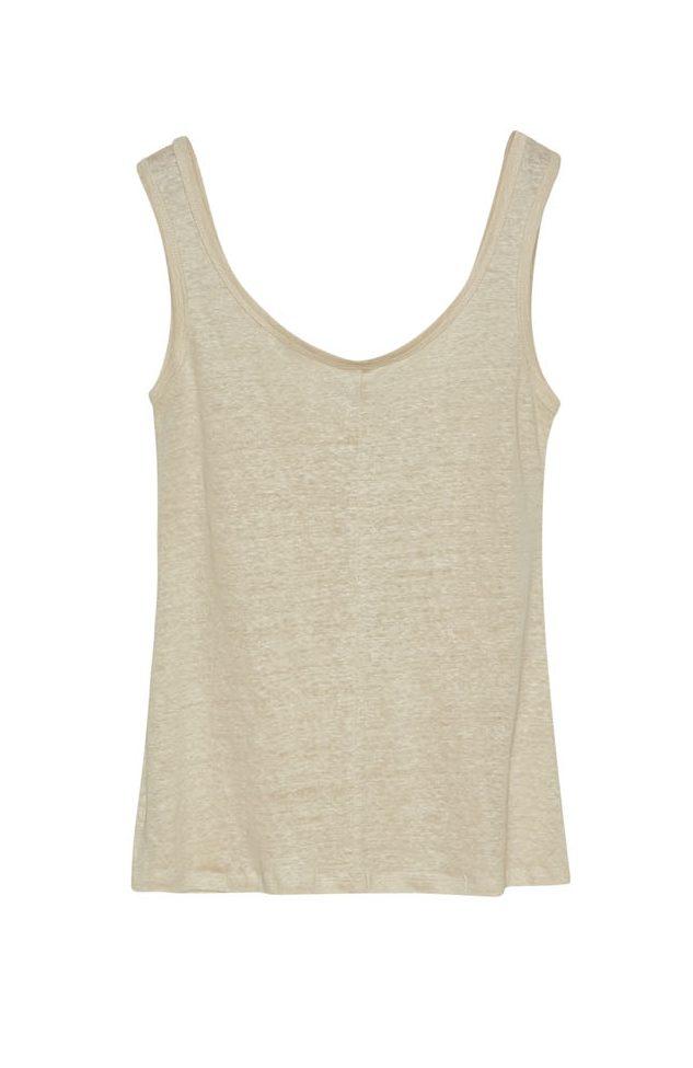 Camiseta Tirantes Lino Crudo de Vandos