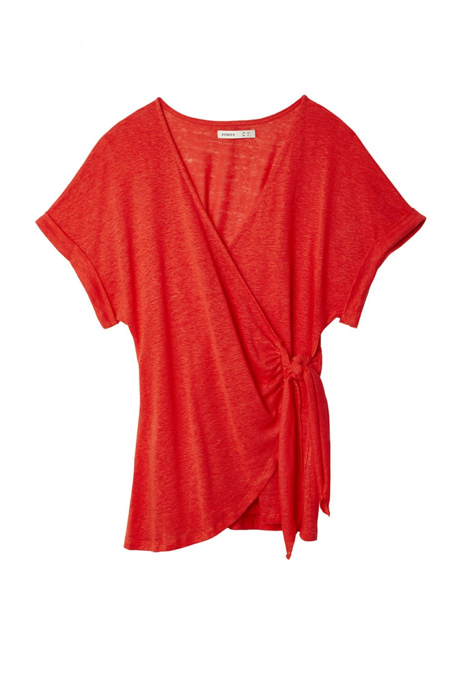 Camiseta Cruzada Lino Coral de Vandos