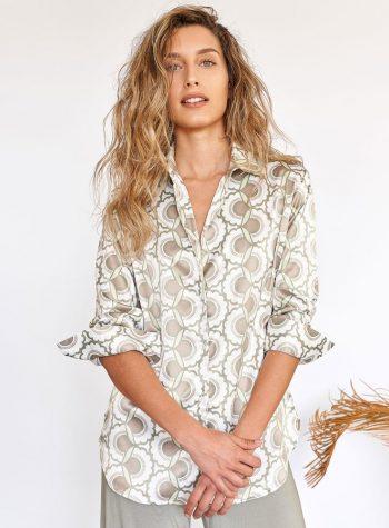 Camisa Inma Cotton Verde de Ehlea