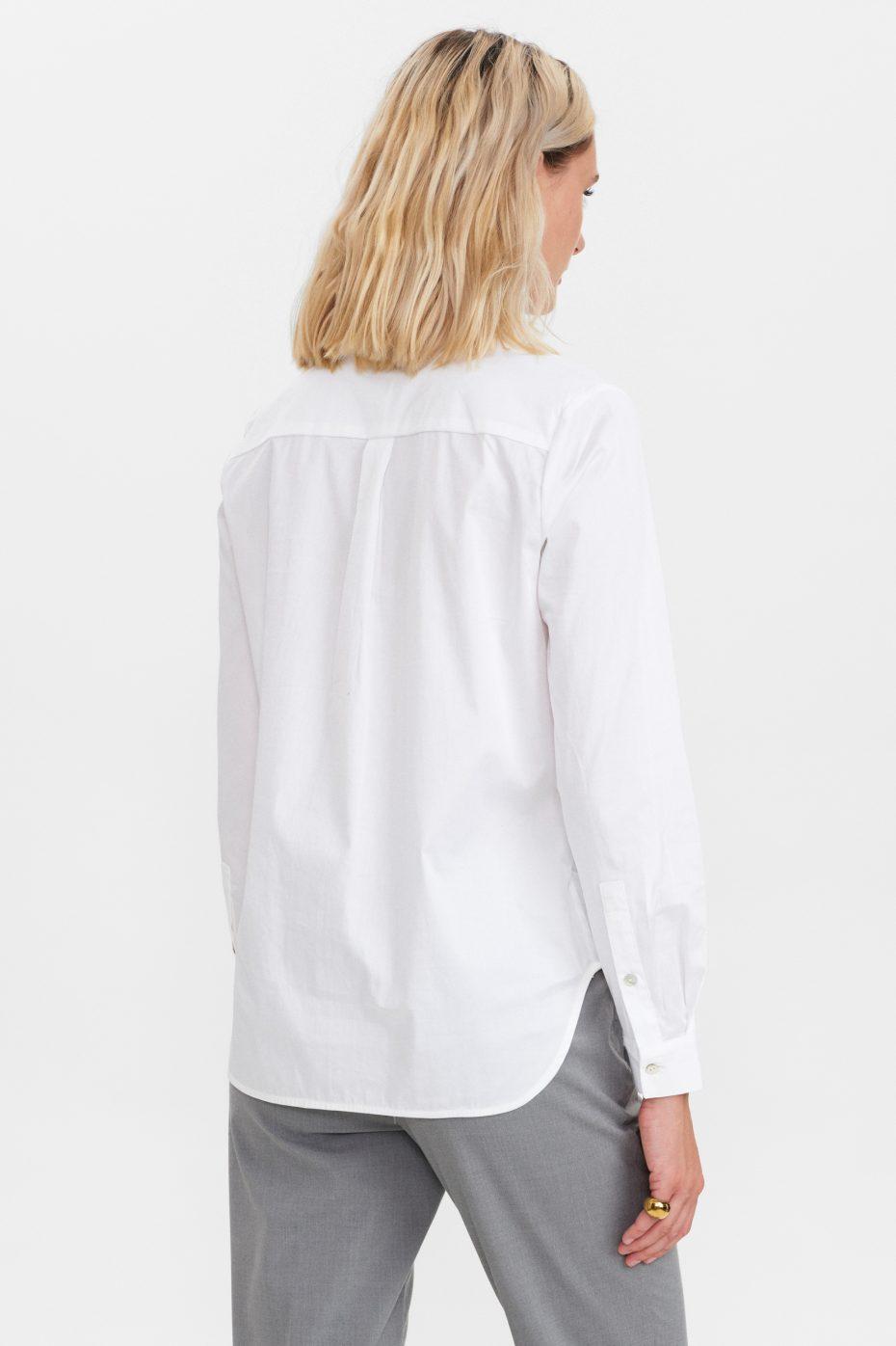 Camisa Basica Algodon Blanca