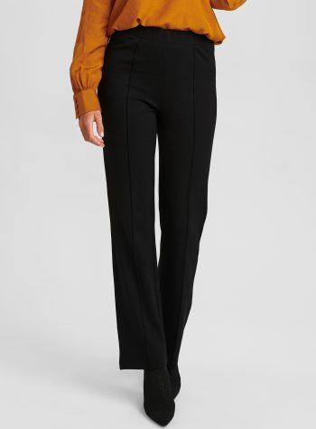 Pantalon Legging Elastico Evase Negro