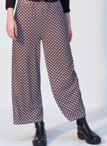 Pantalon Punto Cropped Geometrico de Vandos