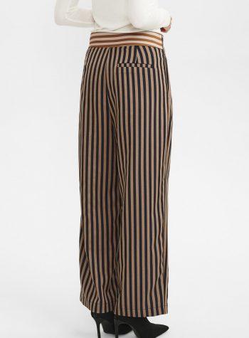 Pantalon Largo Recto Rayas Bicolor