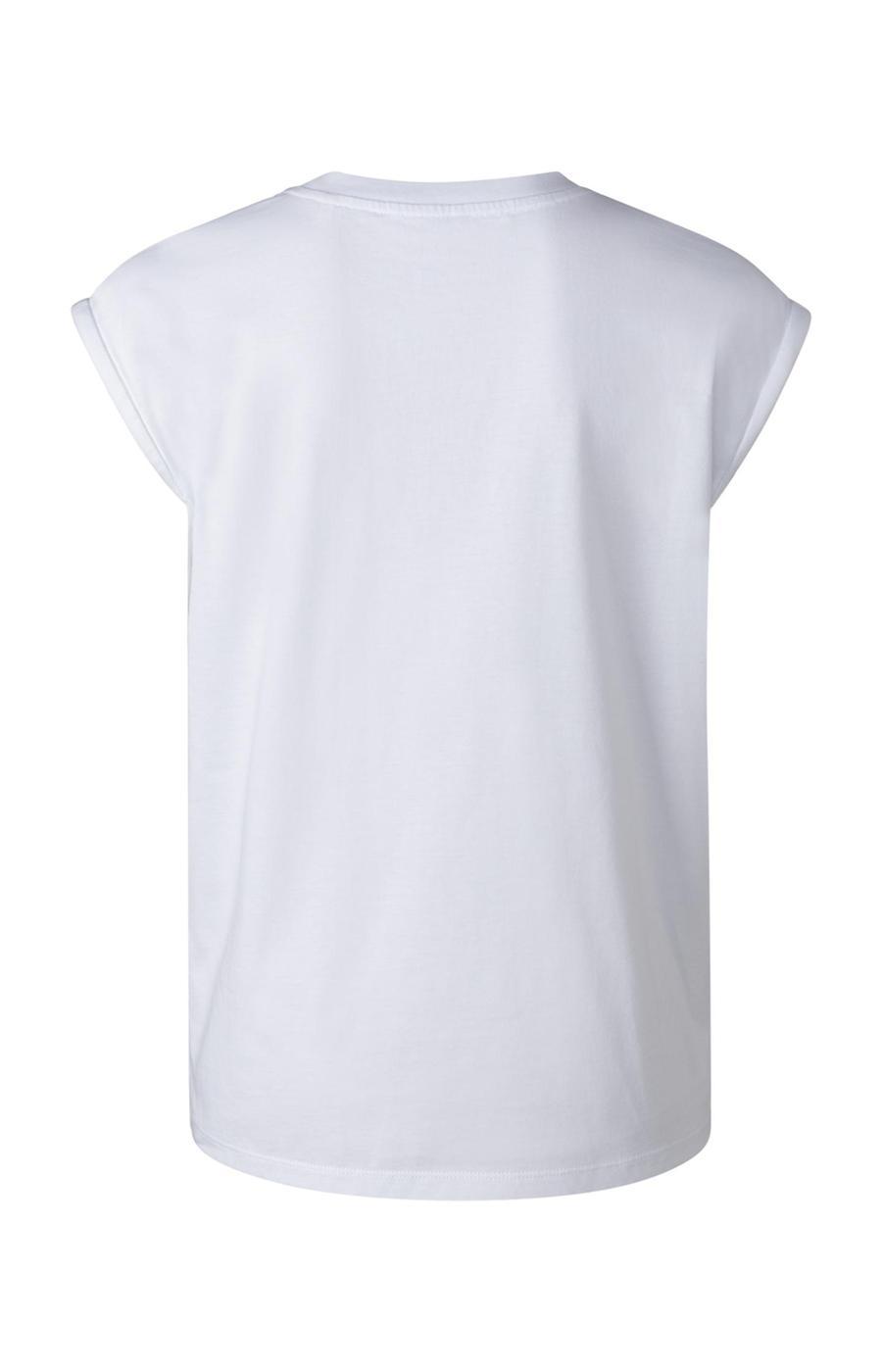 Camiseta Basica sin Mangas Weekend Blanca
